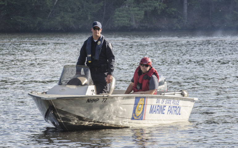 NH Marine Patrol assisted with the search for the body of Heritier Bosa, who drowned Sunday in the Piscataquog River.
