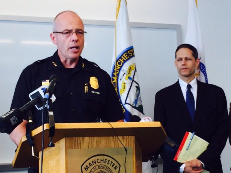 Asst. Chief Nick Willard fields questions on the arrest of Matthew Dion