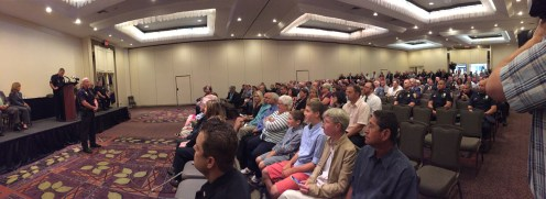 A full house at the Radisson Hotel for Monday's swearing in ceremony.