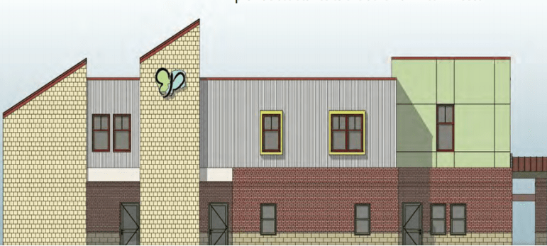 Rendering of the proposed FIT family shelter.