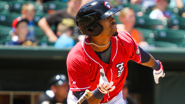 Dalton Pompey cracked his third homer of the past two days in the loss.