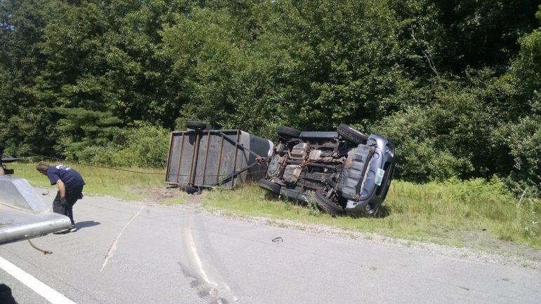 Rollover crash on I-93 North in Hooksett.