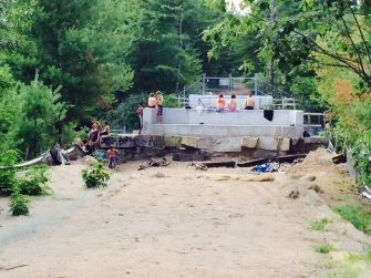 Last hurrah: Hanging out at the former trestle bridge, a ritual of summer for generations of city kids continues.