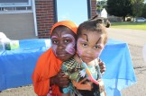 Sisters Luul, left, and Ismahan, proud to show off their painted faces.