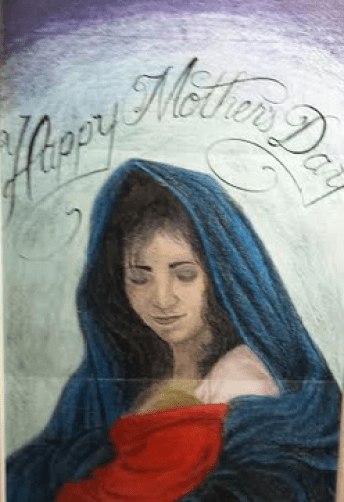 A painting sent to the author by Eric G. from prison.