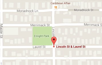 Approximate location of Monday shooting.