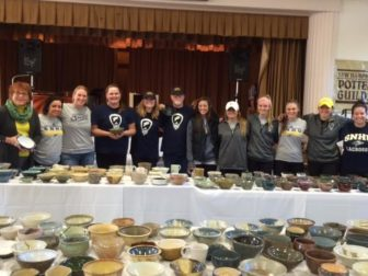 The SNHU Womens Lacrosse team volunteered at the event
