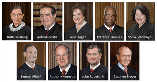 Justices of the U.S. Supreme Court.