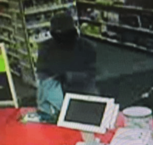 Masked robber from  CVS surveillance footage.