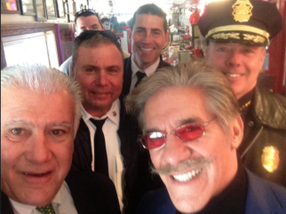 Mayor Ted Gatsas snapped a selfie with Geraldo Rivera who met last week in Manchester with Chiefs Nick Willard and James Burkush and Assistant Chief Dan Goonan.