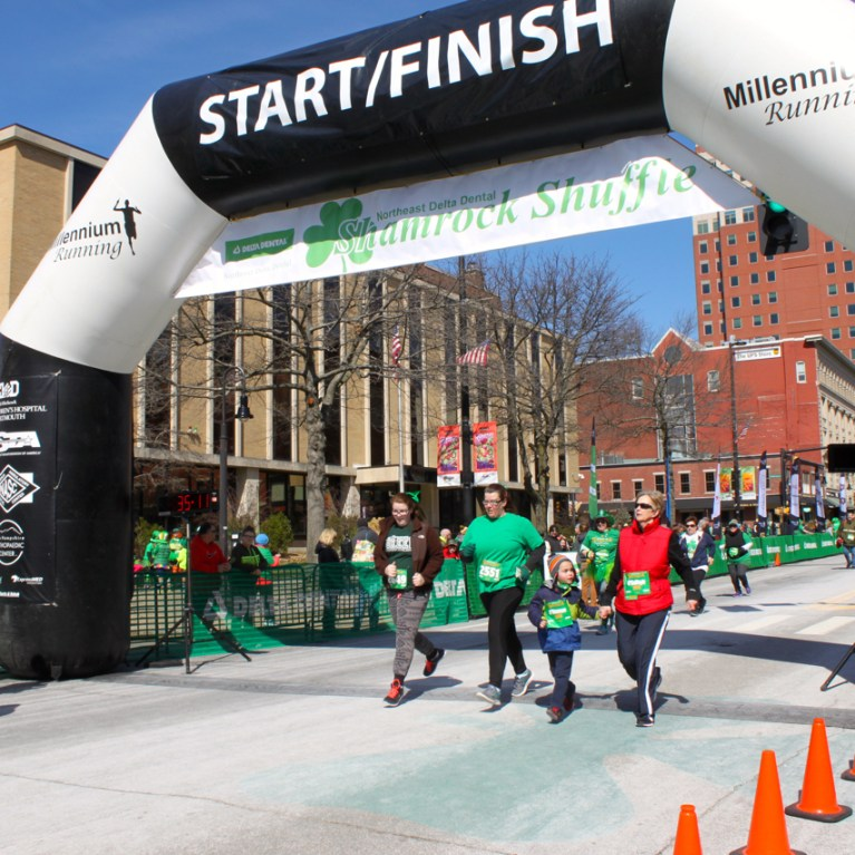 Great fun at the Shamrock Shuffle, which preceded the parade.