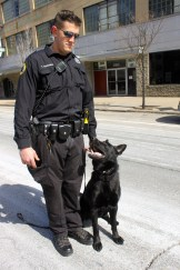 Officer Donovan with Zeus.