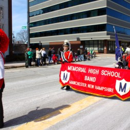 Memorial High School marching band.