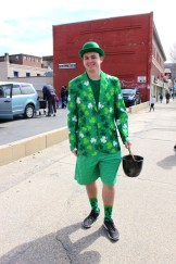 Anthony Brown, aka a leprechaun, had to give away his entire pot of gold.
