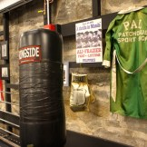 Old school boxing relics meet new and improved workout space.