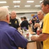 Chief Nick Willard and Mayor Ted Gatsas noshing.
