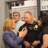 Gov. Maggie Hassan was among several dignitaries on hand for the big reveal.