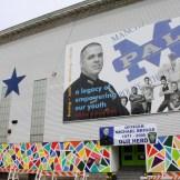 Beech Street mural, featuring Officer Michael Briggs.