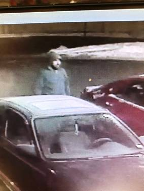 Do you recognize this man? He's wanted in connection with a car theft