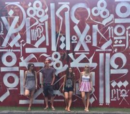 Album artwork at Wynward Walls, Miami