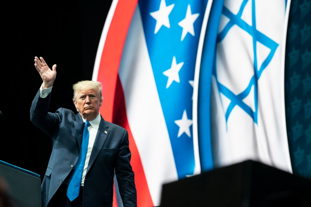 President Donald J. Trump delivers remarks at the Israeli American Council National Summit Saturday, Dec. 7, 2019, in Hollywood, Fla. (Official White House Photo by Joyce N. Boghosian