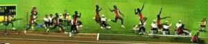 La sequenza di un salto in lungo svolto da Carl Lewis