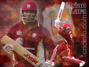 Brian Lara è un battitore mancino nel Cricket, È considerato tra i migliori battitori di tutti i tempi, detiene ancora diversi record
