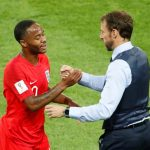 World Cup - Round of 16 - Colombia vs England Gareth Southgate with Raheem Sterling