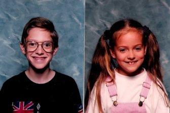 Josh in 6th grade, me in 2nd