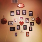 New family wall in the dining room