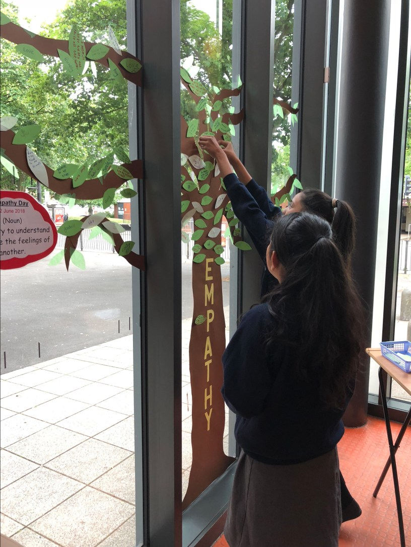 Children creating an empathy tree
