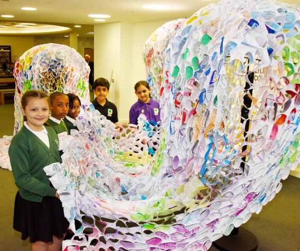 DB_2_Cheetwood_Primary_school_pupils_at_the_launch_of_Made_in_Manchester_a_poem_in_64_languages