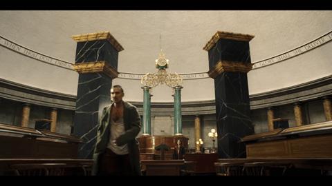 Still image from The Irregulars filmed in Central Library