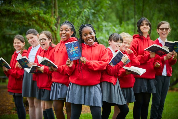 Year 6 children from St John Bosco RC Primary School in Blackley have been given a book each, part of Year 6 transition read project.