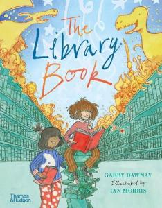 The library book by Gabby Dawnay front cover.