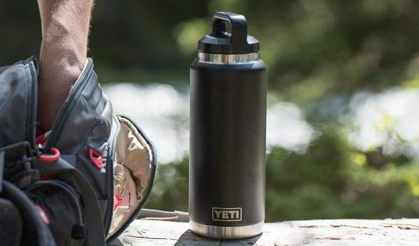 36 oz Pre-coated Yeti insulated Bottle with custom logo engraved