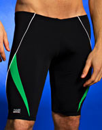 Zoggs Koolan Black and Green mens swim jammer