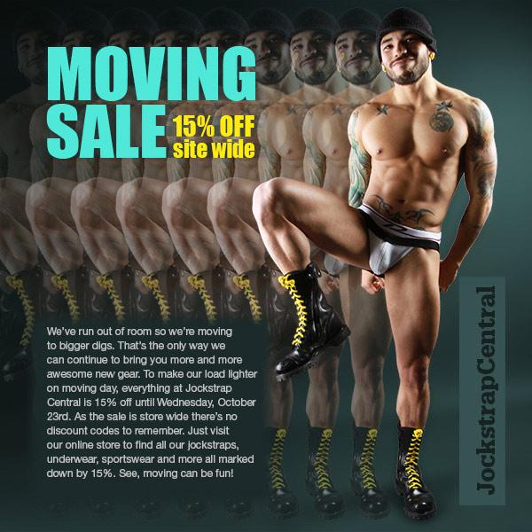 jockstrap central moving sale