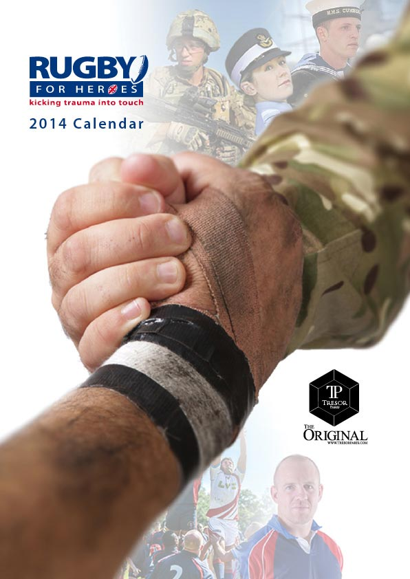 rugby for heroes 2014 calendar