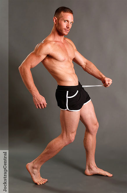 New American Jock gym shorts and body-builder tank tops