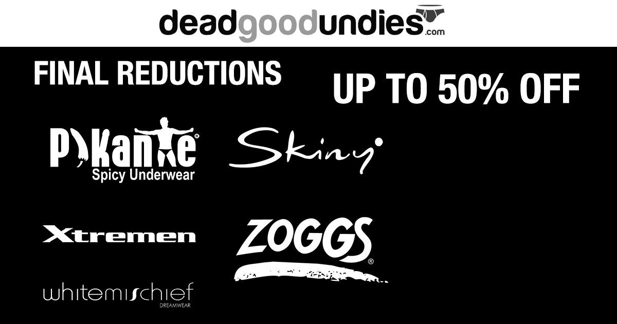 Massive Underwear Savings – up to 50% off Skinny, Pikante, Whitemischief, Xtremen and Zoggs
