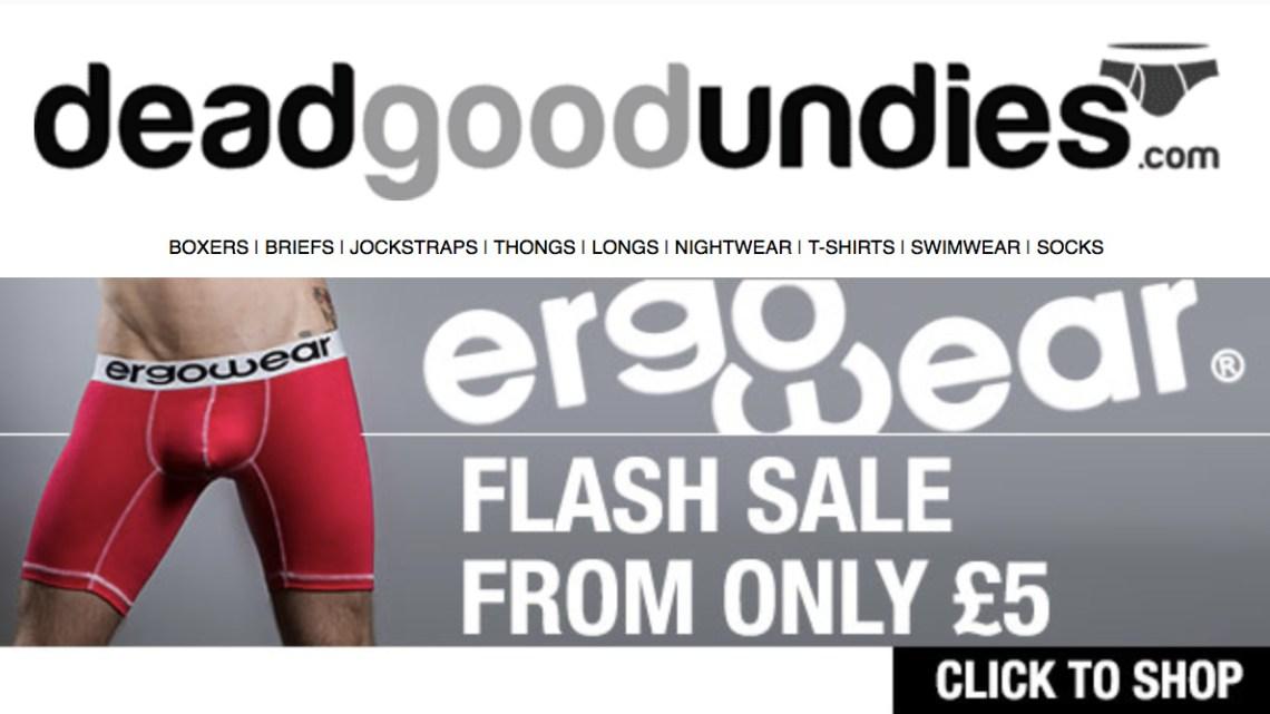 Ergowear flash sale – cheap underwear from £5 at deadgoodundies.com