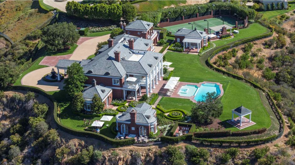 Mansions Beverly Park Beverly Hills Real Estate Villa Luxus Hollywood Los Angeles Pool Hills Berge