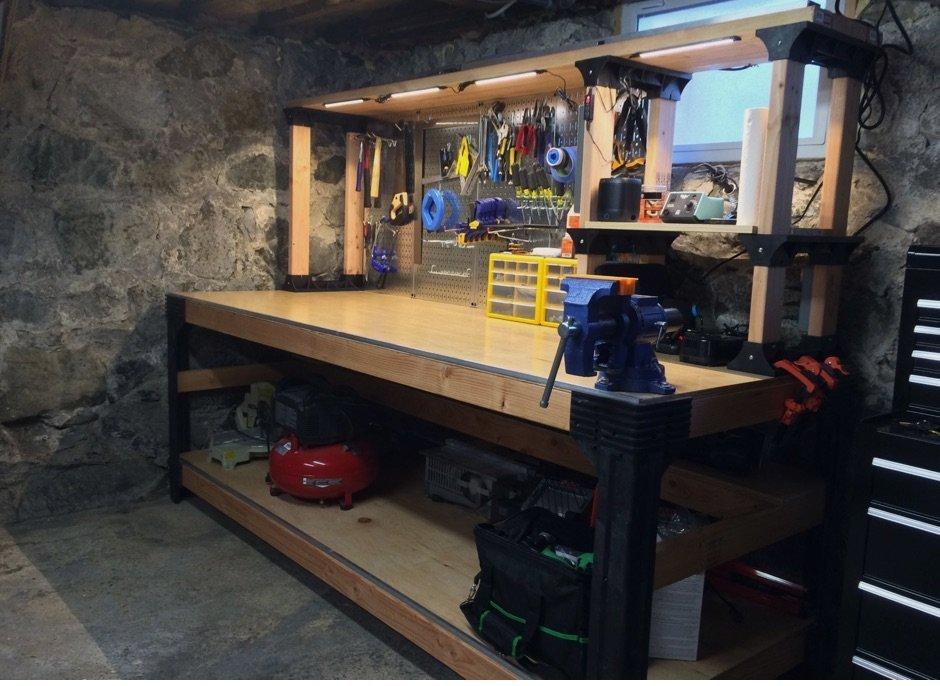 Werkbank Hobbyraum Garage Fahrrad Mancave