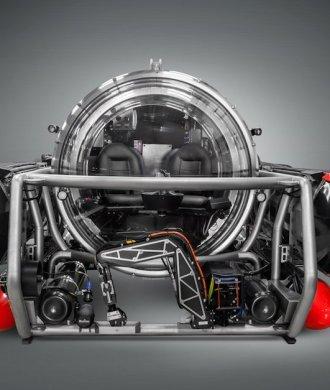 Five Person Exploration Submarine Front U-Boot Expedition Wissenschaft Tauchen Technik Hammacher Schlemmer