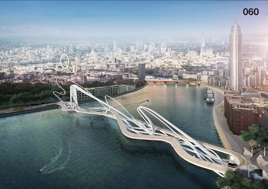 Nine Elms Pimlico Bridge London Konzept Architektur Design Wettbewerb