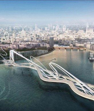Nine Elms-Pimlico-Bridge London Konzept Architektur Design Wettbewerb