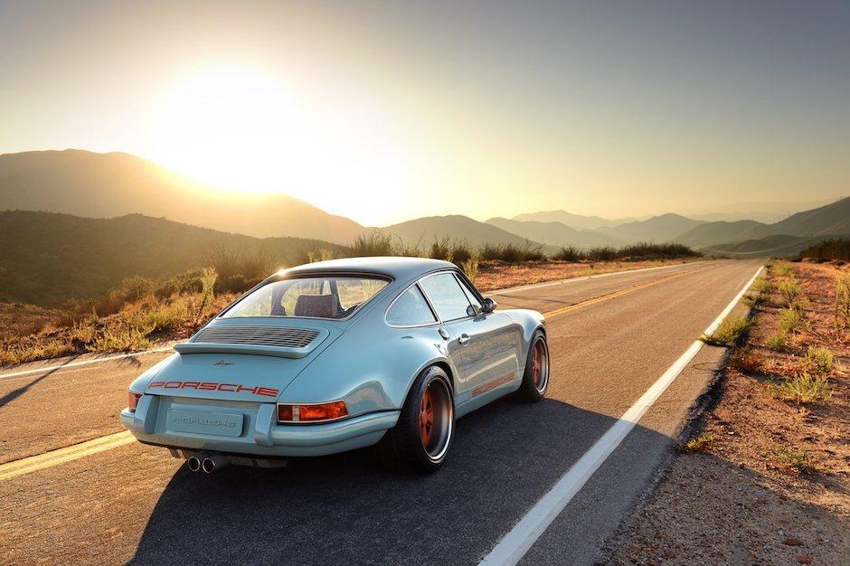 Singer Custom Porsche 911 901 Racing Blue USA blau orange Felgen Schnell Unikat Leidenschaft Oldtimer