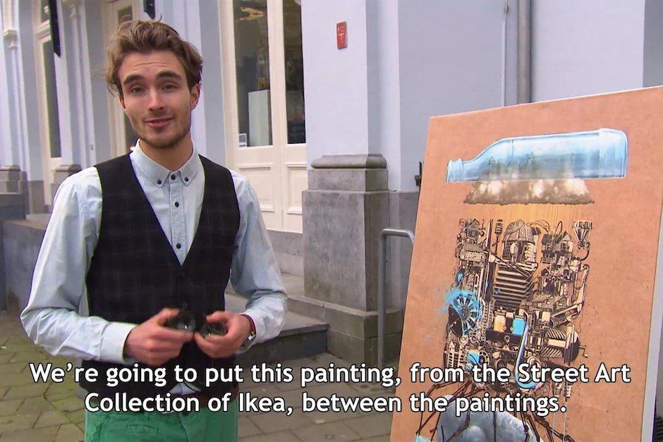 IKEA Bild Kunstmuseum Arnheim Schweden IKE Andrews Rezension Kunst Art Verarsche Lustig Troll Möbelhaus