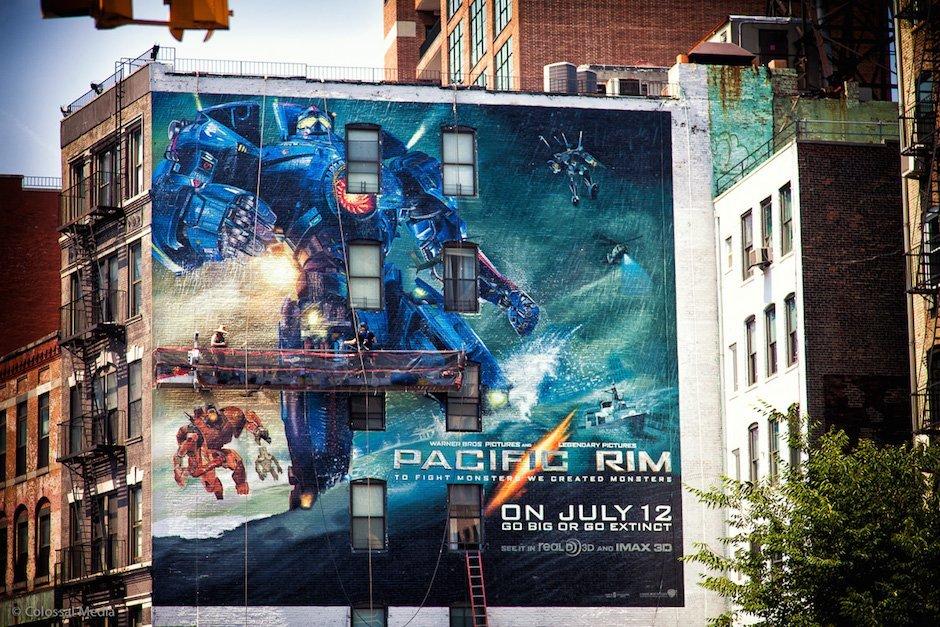 Sky High Murals Pacific Rim New York Graffiti Mural Kunst Gemälde Häuserfassade
